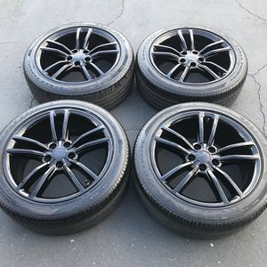 "19"" oem Tesla Model S factory wheels 19 inch gloss black rims Goodyear tires for Sale in Santa Ana, CA"