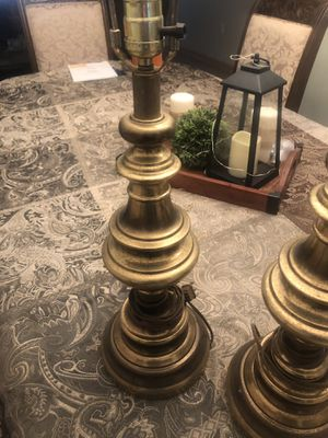 Antique Brass Lamps with your choice of shade for Sale in Toms River, NJ