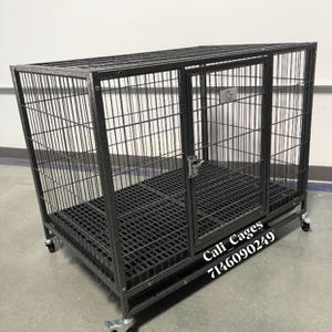 Dog Pet Cage Kennel Size 37 Medium With Plastic Floor Grid Tray And Wheels New In Box 📦 for Sale in Ontario, CA