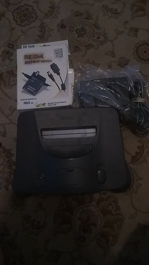 N64 system comes w/power cord and rf switch for Sale in Merced, CA
