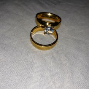 Set 2 Piece 18 K Gold Filled Engagement Wedding Ring, Size 10. for Sale in Dallas, TX