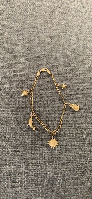 14k Italian Gold Charm Bracelet for Sale in Silver Spring, MD