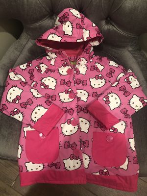 Hello Kitty rain coat for girls size6 for Sale in Bakersfield, CA