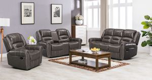 Leather reclining Sofa & couch & loveseat & chair & Living Room Set for Sale in League City, TX