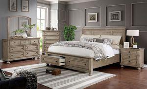 4-Pc Grey Solid Wood Queen Bedroom Set for Sale in Fresno, CA