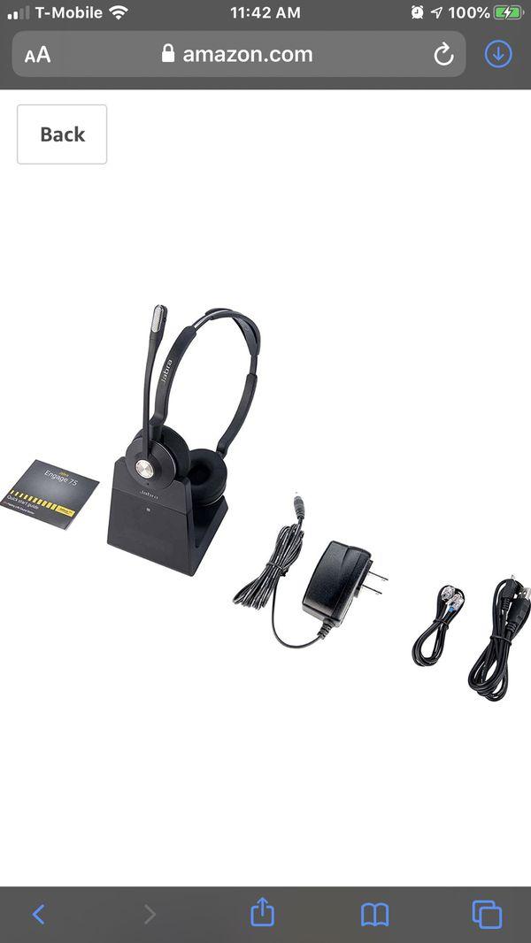 Jabra Engage 75 wireless headset with EHS