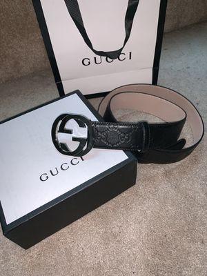 Black Gucci Belt size 34-36 and 36-38 for Sale in Atlanta, GA