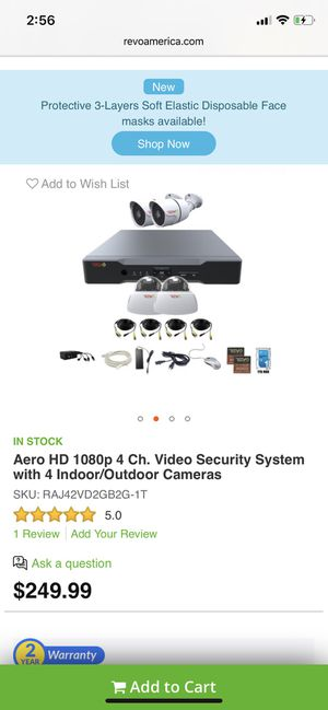 Aero 4 camera security system *new* for Sale in Homosassa, FL