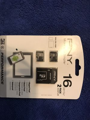 PNY 2 pack 16gb Micro SD/SD adapter $20 for Sale in Escondido, CA