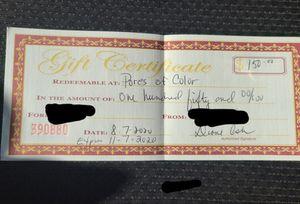 Tattoo gift certificate for Sale in Matteson, IL