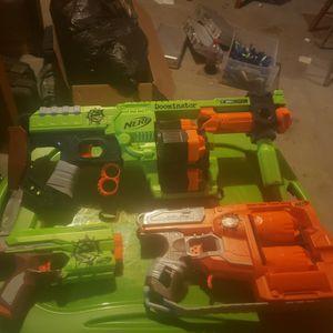 3 Nerf Zombie Strike Blasters for Sale in Oak Grove, MO