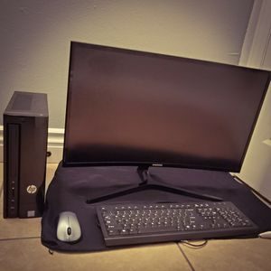 HP Tower, Samsung Curve Monitor Keyboard Wireless Mouse for Sale in Santa Monica, CA