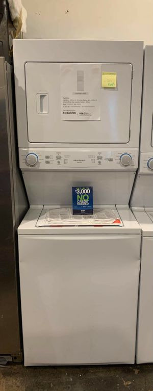 Brand new Frigidaire washer and gas dryer stackable for Sale in Halethorpe, MD