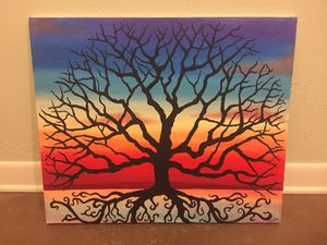 """Original Signed Canvas Painting Tree of Life 24""""w X 20""""h for Sale in Lakeland, FL"""