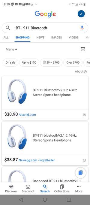 Bt-911 bluetooth wireless headphones for Sale in San Antonio, TX