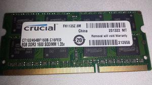 8gb DDR3 1600 Sodimm 1.35v Ram Memory for Sale in Atlanta, GA