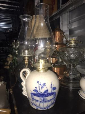 Antique Dutch blue and white ceramic OiL Lamp for Sale in Virginia Beach, VA