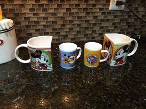 4 Disney Mickey Minnie Mouse Mugs Cups for Sale in Murfreesboro, TN