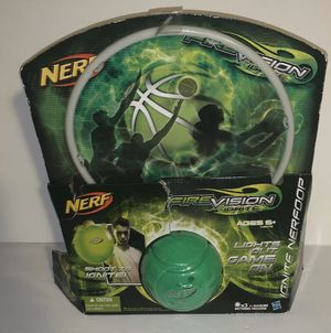 Nerf Fire Vision Ignite Nerf Mini Basketball & Hoop Set Kids Toy Game, Green New for Sale in San Diego, CA