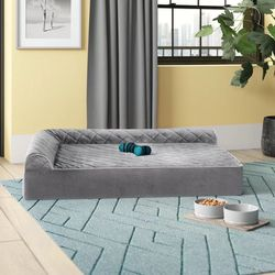 Griego Quilted L-Chaise Lounge Dog Bed Sofa Bolster for Sale in Orlando,  FL