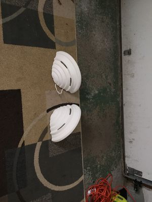 Nice white wall lights great condition 20.00 for the set. for Sale in Cleveland, OH