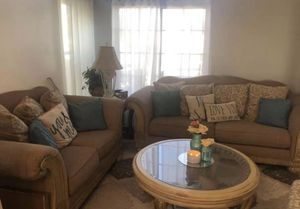 Free love seat and couch in fair condition need cleaning 😁 for Sale in Wildomar, CA
