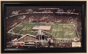 """2010 KC Kansas City Chiefs NFL Football Highland Mint Framed 19.5"""" x 12"""" Photo Individually Numbered 0036/2010 Arrowhead Stadium Facsimile Signatures for Sale in Citrus Heights, CA"""