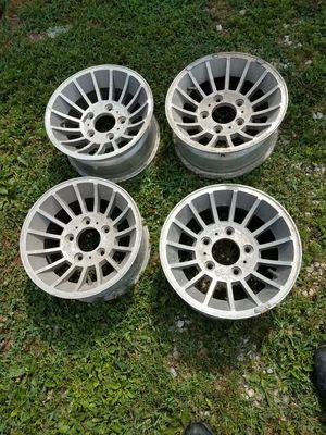5 by 5 1/2 15x7 turbine wheels jeep dodge for Sale in Trenton, IL