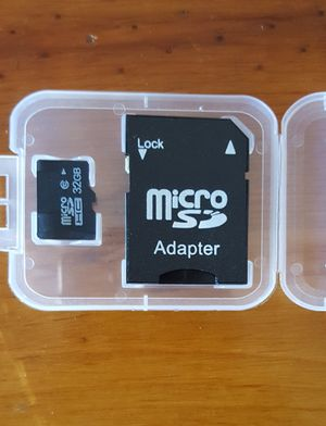 32GB Micro SD Card w/adapter for Sale in Tempe, AZ