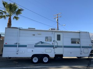 2002 nomad 26ft travel trailer with large power slide out in excellent condition for Sale in Upland, CA