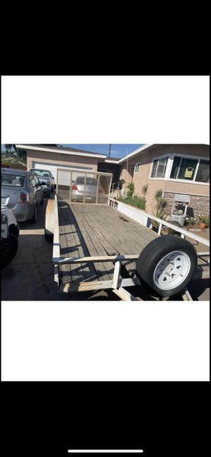 Aztek trailer 6 LUG AXLES PINKSLIP IN HAND 7x16 has brakes rzr trailer can am trailer fits car or trucks 2500$$ for Sale in Riverside, CA
