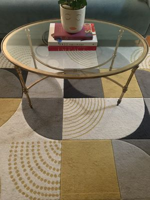 Vintage gold metal coffee table for Sale in Miami, FL
