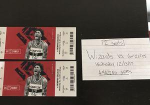 Wizards vs. Grizzlies- AMAZING SEATS for Sale in Washington, DC