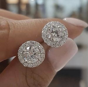 1.25 round cut white diamond halo stud earrings for women girls gift valentines engagement for Sale in Lakewood, CA