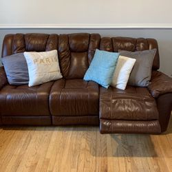 Brown Leather Sectional for Sale in Fanwood,  NJ