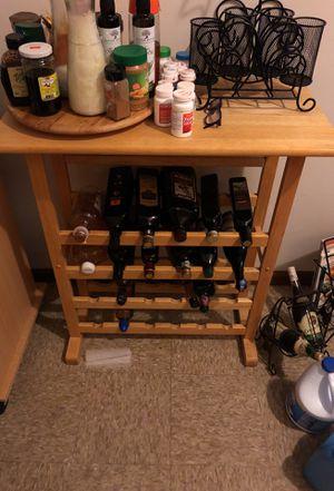 Wine rack kitchen island for Sale in Chicago, IL