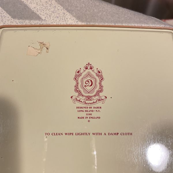 Vintage Daher Tin Tray From England