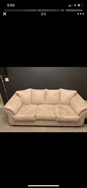 Beige couches for Sale in Apple Valley, CA