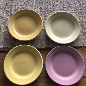 4 Vintage Bauer Pottery 6 Inch Plates for Sale in Richmond, CA