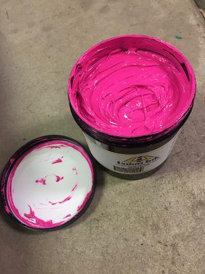 Plastisol Pink Ink for Sale in Eagle River, WI