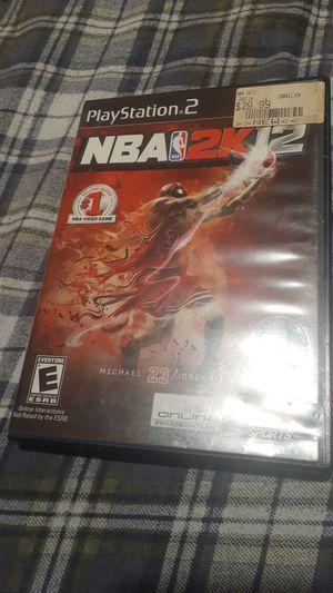NBA 2k12 ps2 cib for Sale in Phoenix, AZ