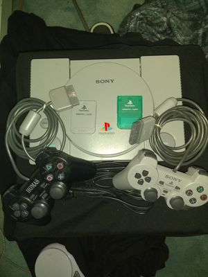 Playstation 1 with 2 controllers 2 memory cards modified system and burned games read description for Sale in Alexandria, VA