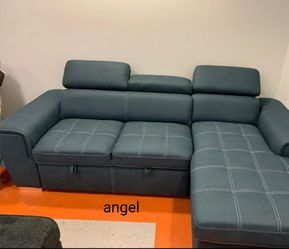 🎁BRAND NEW 🎇Ferriday Blue Storage Sleeper Sectional for Sale in Laurel,  MD