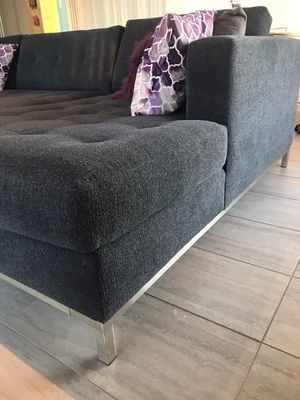 Large sectional couch, blue, left chair for Sale in San Diego, CA