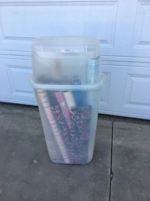 Wrapping paper storage container for Sale in Wildomar, CA