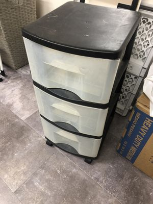 Plastic drawers for Sale in Highland, CA