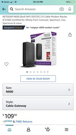 Netgear N600 Cable Modem Router (BRAND NEW) for Sale in Phoenix, AZ
