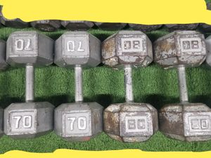 Dumbbell Set 300lbs 70/80 pairs - HUGE SET - SAVE BIG $ - GREAT Dumbbells for Sale in Mansfield, TX