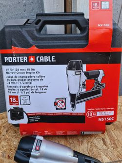 Porter cable Pneumatic 18-Gauge 1-1/2 in. Narrow Crown Stapler Kit for Sale in Snohomish,  WA