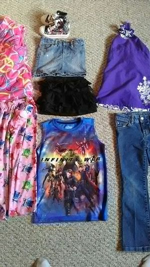 New with out tags, different girls toddler clothes and slippers, justice shoes, pj'! Will accept offers! for Sale in Leechburg, PA